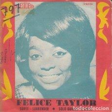 Discos de vinilo: FELICE TAYLOR - SUREE SURRENDER - SINGLE ESPAÑOL DE VINILO #. Lote 176858708