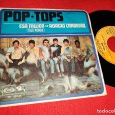 Discos de vinilo: POP-TOPS ESA MUJER/ADAGIO CARDENAL 7'' SINGLE 1968 BARCLAY. Lote 176865317