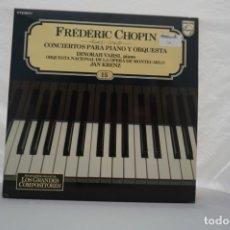 Discos de vinilo: LP - GRANDES COMPOSITORES 15 / FREDERIC CHOPIN / CONCIERTOS PARA PIANO Y ORQUESTA / PHILIPS. Lote 176889928