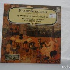 Discos de vinilo: LP - GRANDES COMPOSITORES 8 / FRANZ SCHUBERT / QUINTETO EN DO MAYOR, D. 956 / PHILIPS. Lote 176890017
