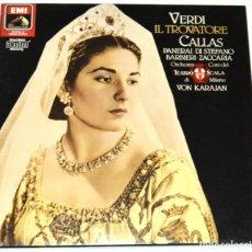 Discos de vinilo: VERDI - IL TROVATORE - KARAJAN / MARÍA CALLAS - GEDDA - EMI. Lote 176903823