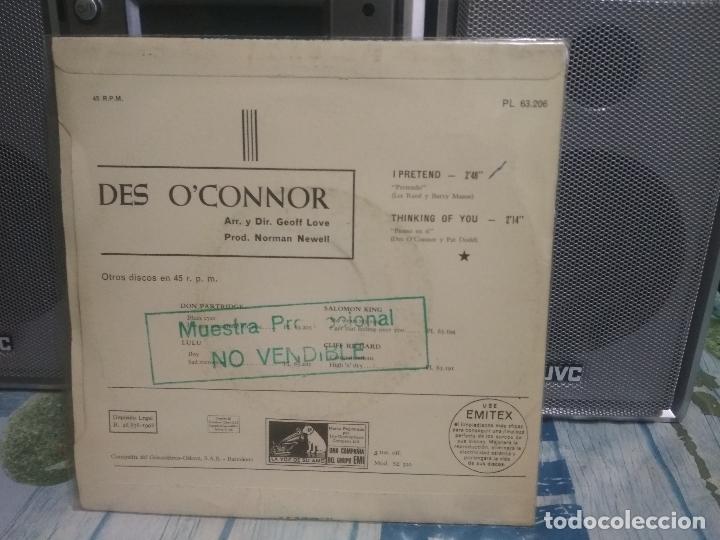 Discos de vinilo: DES O'CONNOR I PRETEND SINGLE SPAIN 1968 PDELUXE - Foto 2 - 176906345