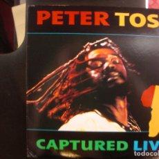 Discos de vinilo: PETER TOSH- CAPTURED LIVE. LP.. Lote 176918299