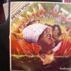 Discos de vinilo: PETER TOSH- MAMA AFRICA. LP.. Lote 176918594