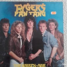 Discos de vinilo: TYGERS OF PAN TANG. THE WRECK-AGE. MUSIC FOR NATIONS. 1985.. Lote 176922548