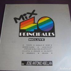Discos de vinil: MIX 40 PRINCIPALES LP MAX MIX 1987 JOSE A. ABELLAN - MECANO - HOMBRES G - EUROPE - ERASURE - BANGLES. Lote 176927448