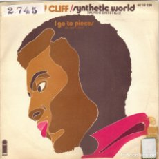 Discos de vinilo: JIMMY CLIFF - SYNTHETIC WORLD + I GO TO PIECES SINGLE SPAIN 1971. Lote 176928659