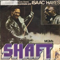 Discos de vinilo: BSO SHAFT - ISAAC HAYES - THEME FROM SHAFT + SHAFT STRIKES AGAIN SINGLE 1971 SPAIN. Lote 176940090