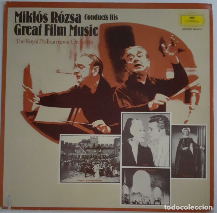 Discos de vinilo: MIKLOS ROZSA CONDUCTS HIS GREAT MUSIC FILM - Foto 1 - 176941967