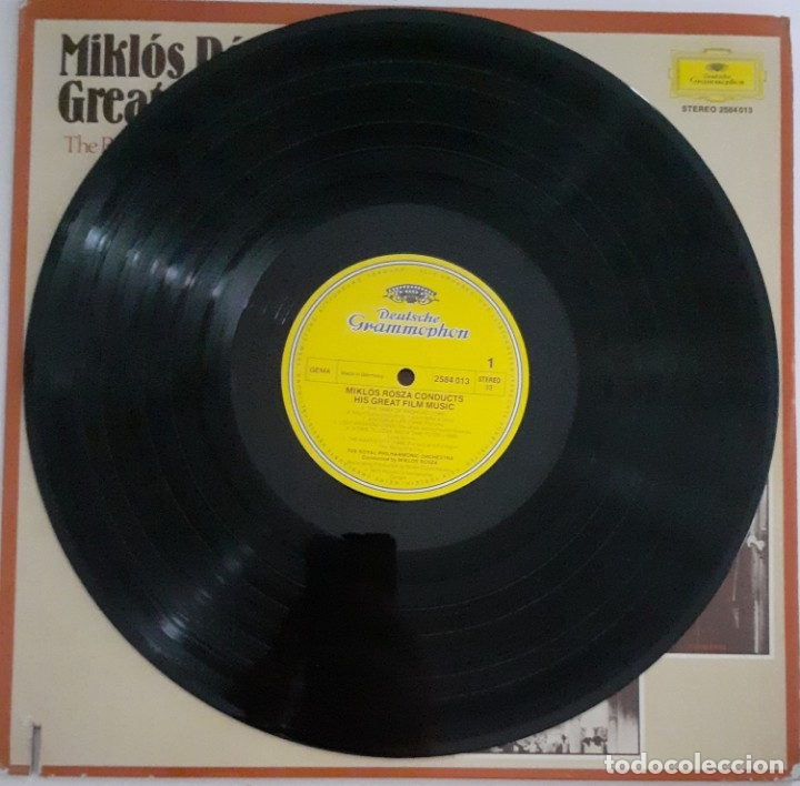 Discos de vinilo: MIKLOS ROZSA CONDUCTS HIS GREAT MUSIC FILM - Foto 5 - 176941967