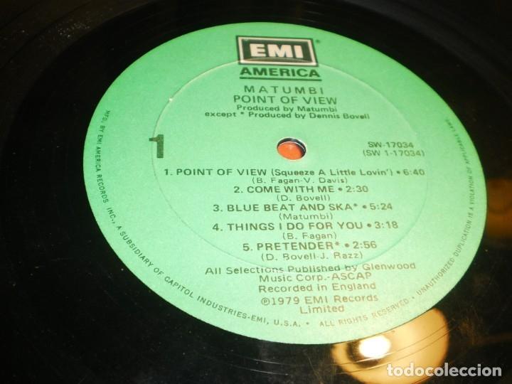 Discos de vinilo: lp matumbi. point of view. emi america usa 1979 nunca expuesto en TC (disco probado y bien) - Foto 3 - 176948587