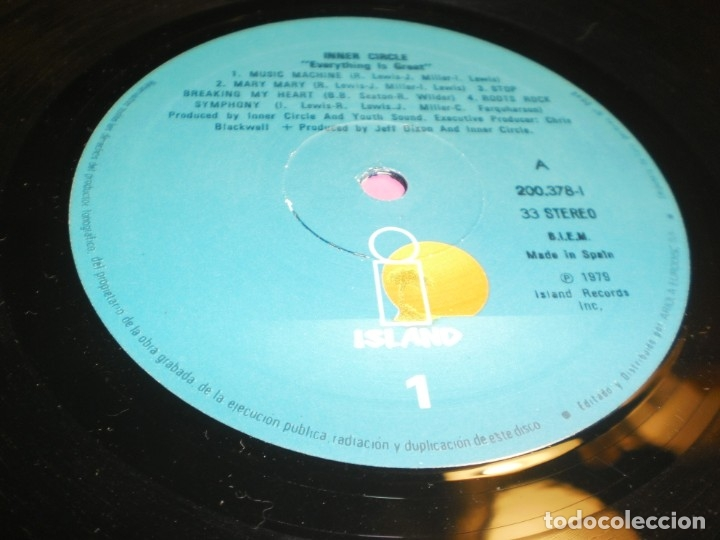 Discos de vinilo: lp inner circle. every thing is great. island 1979 spain (probado y bien) - Foto 3 - 176948840