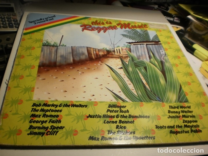LP 2 DISCOS THIS IS REGGAE MUSIC. ISLAND 1976 GERMANY CARPETA DOBLE (PROBADO Y BIEN) (Música - Discos - LP Vinilo - Reggae - Ska)