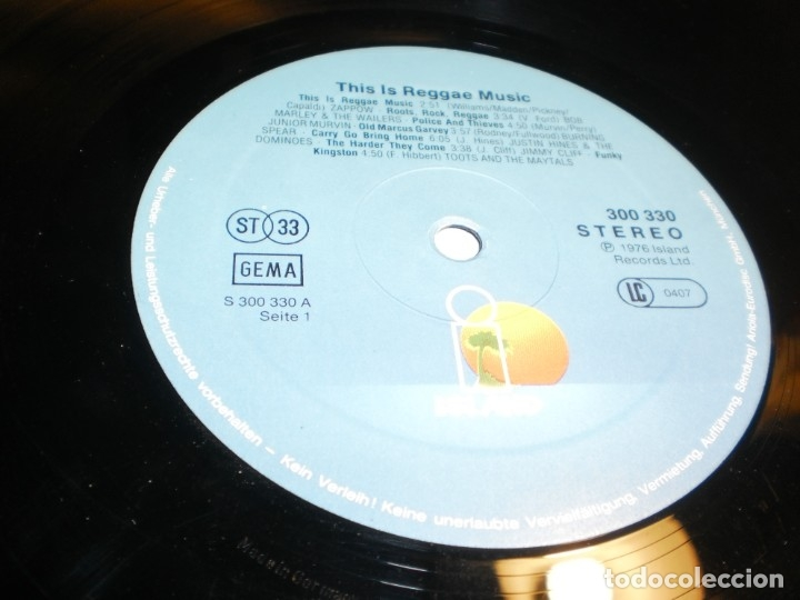 Discos de vinilo: lp 2 discos this is reggae music. island 1976 germany carpeta doble (probado y bien) - Foto 5 - 176949382