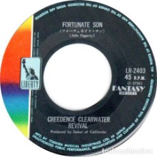 Discos de vinilo: CREEDENCE CLEARWATER REVIVAL FORTUNATE SON (SINGLE) . JOHN FOGERTY ROCK AND ROLL . Lote 176949829