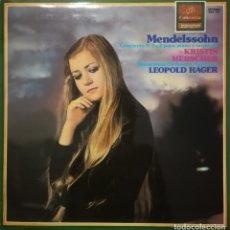 Discos de vinilo: MENDELSSOHN.CONCIERTO PARA PIANO N.1 Y 2. K. MERSCHER AL PIANO. Lote 176956598