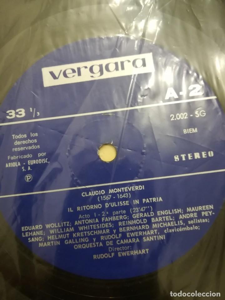 Discos de vinilo: IL RITORNO DULISSE IN PATRIA. OPERA de CLAUDIO MONTEVERDI - Foto 2 - 176956883
