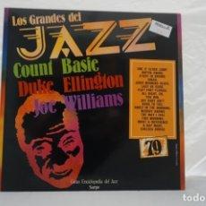 Discos de vinilo: LP - LOS GRANDES DE JAZZ 79 / COUNT BASIE, DUKE ELLINGTON, JOE WILLIAMS. Lote 176958908