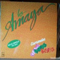 Discos de vinilo: LOS AMAYA (CARAMELOS) MAXI SINGLE 1991 . Lote 176965803