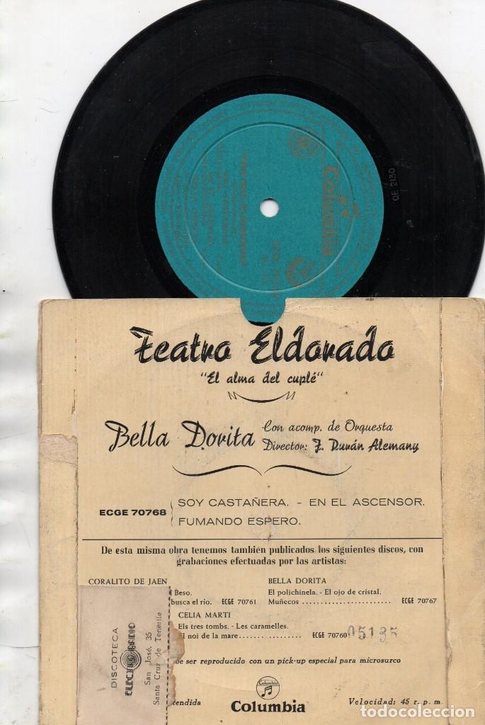 Discos de vinilo: ANTIGUO EP - BELLA DORITA - TEATRO ELDORADO EL ALMA DEL CUPLÉ - - Foto 2 - 176985883