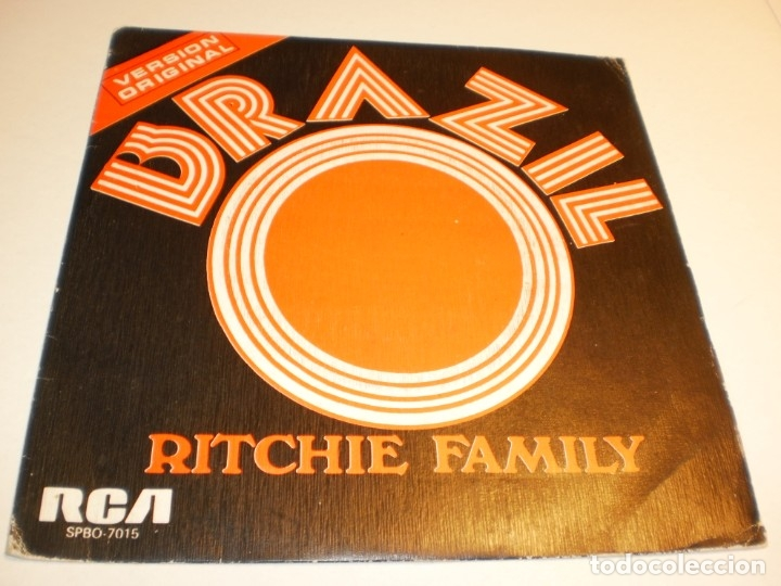 SINGLE RITCHIE FAMILY. BRAZIL. HOT TRIP. RCA 1975 SPAIN (DISCO PROBADO Y BIEN) (Música - Discos - Singles Vinilo - Pop - Rock - Extranjero de los 70)