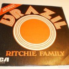 Discos de vinilo: SINGLE RITCHIE FAMILY. BRAZIL. HOT TRIP. RCA 1975 SPAIN (DISCO PROBADO Y BIEN). Lote 176996397
