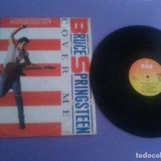 Discos de vinilo: RARO MAXI.BRUCE SPRINGSTEEN-COVER ME EXTENDED /JERSEY GIRL/DANCIN´IN THE DARK.UK 1984.CBS TA 4662.. Lote 176999489
