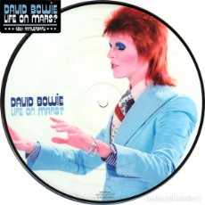 Discos de vinilo: DAVID BOWIE * SINGLE VINILO PICTURE DISC * LIFE OF MARS * FOTODISCO 40TH ANNIVERSARY * SIN ABRIR. Lote 233776795
