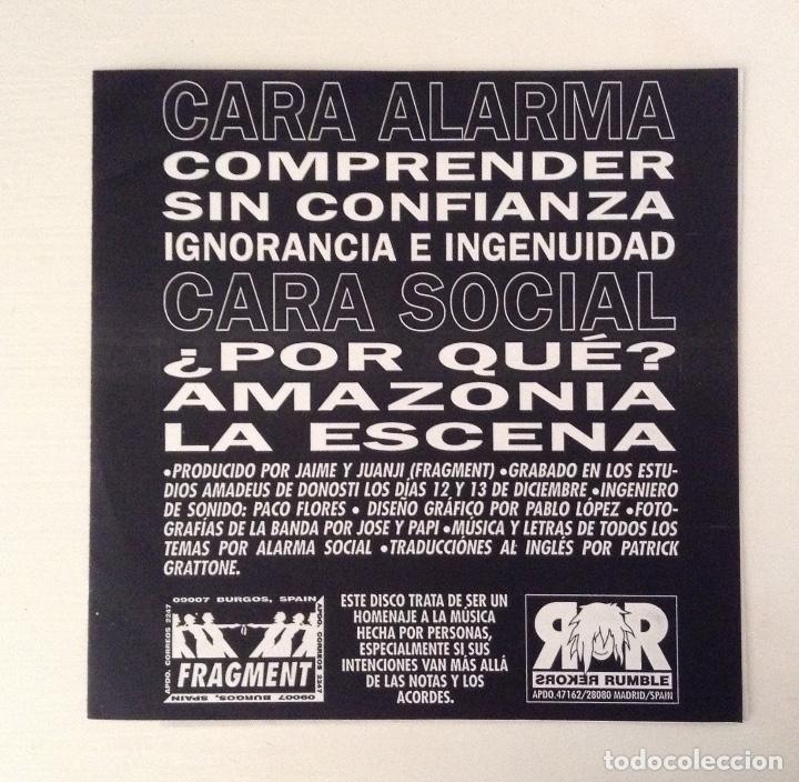 Discos de vinilo: ALARMA SOCIAL estado de alarma 7inch FRAGMENT MUSIC - RUMBLE REKORDS - Foto 2 - 177003232