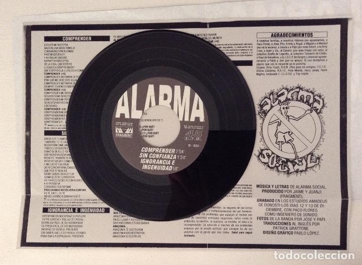 Discos de vinilo: ALARMA SOCIAL estado de alarma 7inch FRAGMENT MUSIC - RUMBLE REKORDS - Foto 4 - 177003232