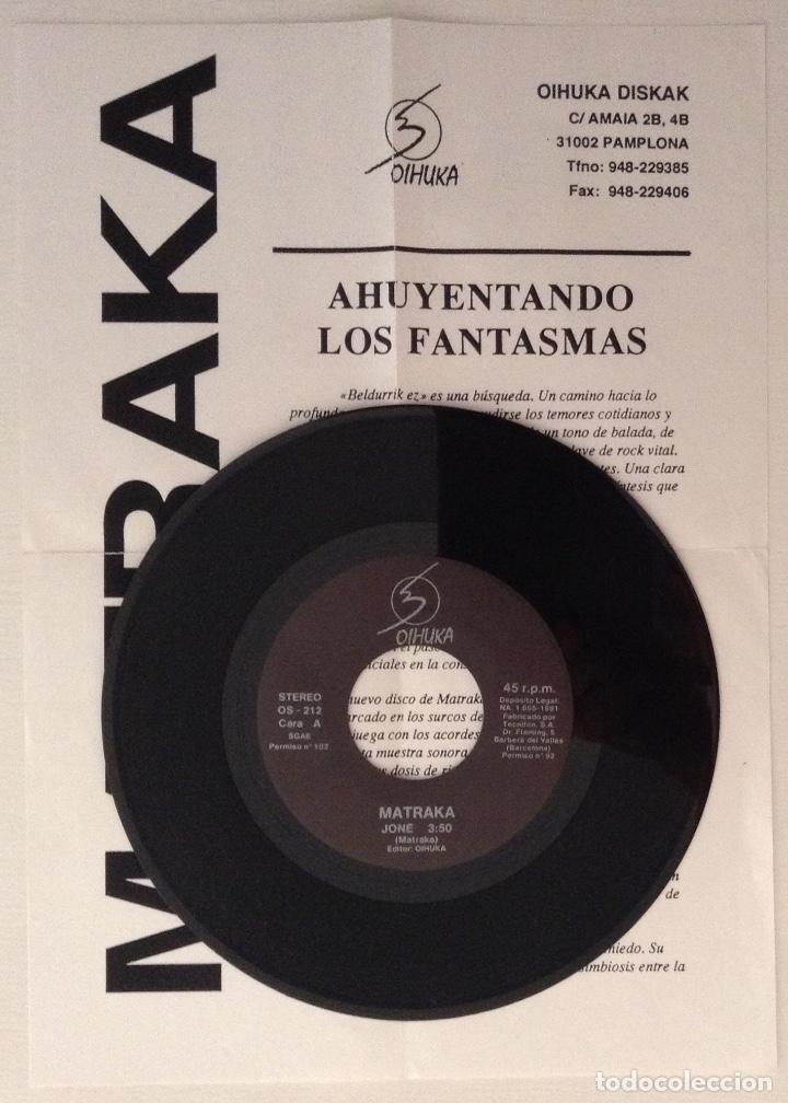Discos de vinilo: Matraka single Jone Ohiuka con hoja promocional - Foto 3 - 177009893