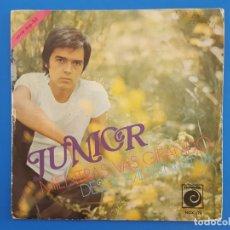 Discos de vinilo: SINGLE / JUNIOR / MIENTRAS VAS GIRANDO - DESDE MI VENTANA / 1970. Lote 177011483