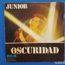 Discos de vinilo: SINGLE / JUNIOR / OSCURIDAD - CUANDO SALGA EL SOL / 1974. Lote 177011848