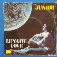 Discos de vinilo: SINGLE / JUNIOR / LUNATIC LOVE - SOLO / 1975. Lote 177012064