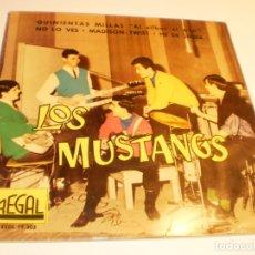 Discos de vinilo: SINGLE LOS MUSTANG. QUINIENTAS MILLAS. NO LO VES. MADISON. HE DE SABER REGAL 1962 SPAIN (PROBADO). Lote 177013619