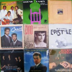 Discos de vinilo: LOTE 9 SINGLES: CHAVIS, LINAJE, CHAO, EPISTOME, CALLEJON DEL AGUA, CHACHIPEN, ANTONIO RAMOS . Lote 177014838