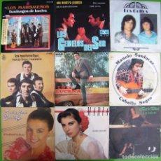 Discos de vinilo: LOTE 9 SINGLES: LOS MARISMEÑOS, GEMELOS DEL SUR, LOS GOLFOS, LUIS LUCENA, M. SANLUCAR, MARIA VIDAL. Lote 177015063