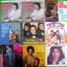 Discos de vinilo: LOTE 9 SINGLES: RAFAEL FARINA, ROSA MORENA, RUMBA TRES, SANTY CASTELLANOS, LA SUSI, S.MONTIEL. Lote 177015184