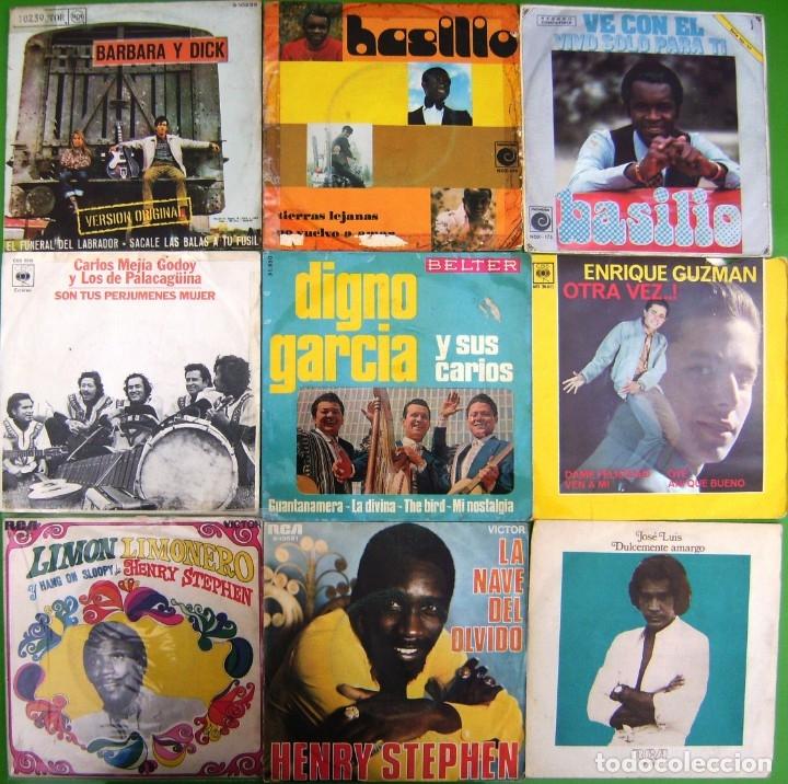 LOTE 9 SINGLES: BASILIO, BARBARA Y DICK, ENRIQUE GUZMAN, HENRY STEPHEN, J.L. RODRIGUEZ EL PUMA, (Música - Discos - Singles Vinilo - Grupos y Solistas de latinoamérica)