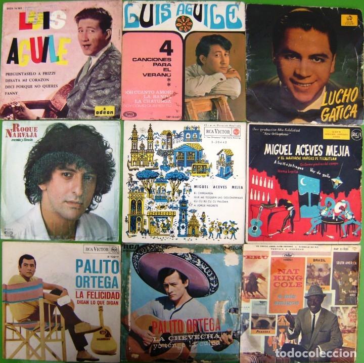 LOTE 9 SINGLES: LUIS AGUILE, PALITO ORTEGA, MIGUEL ACEVES MEJIA, ROQUE NARVAJA, LUCHO GATICA (Música - Discos - Singles Vinilo - Grupos y Solistas de latinoamérica)