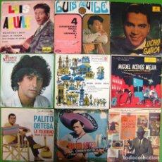Discos de vinilo: LOTE 9 SINGLES: LUIS AGUILE, PALITO ORTEGA, MIGUEL ACEVES MEJIA, ROQUE NARVAJA, LUCHO GATICA. Lote 177015605