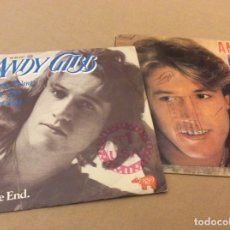 Discos de vinilo: ANDY GIBB. I JUST WANT TO BE YOUR EVERYTHING/ IN THE END. + DESIRE/WAITING FOR YOU. LOTE 2 SINGLES. . Lote 177016910