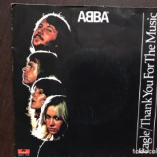 Discos de vinilo: ABBA. EAGLE. THANK YOUR FOR THE MUSIC.. Lote 177019254