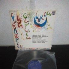 Discos de vinilo: FEDERICO GARCIA LORCA- FUEGO, GRITO, LUNA- LP PHILIPS 1976- LIBRO INTERIOR DIBUJOS RAFAEL ALBERTI. Lote 177019335