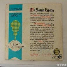 Disques de vinyle: LOS RELAMPAGOS – LA SANTA ESPINA - ZAFIRO 1967 - SINGLE - PL. Lote 177023845