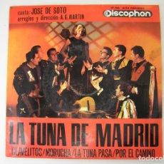 Discos de vinilo: LA TUNA DE MADRID* – CLAVELITOS / MORUCHA / LA TUNA PASA / POR EL CAMINO - DISCOPHON 1963 - SINGLE. Lote 177024137