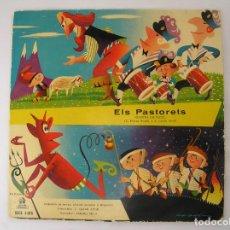 Discos de vinilo: ELS PASTORETS - CUENTO INFANTIL - ODEON - SINGLE - PL. Lote 177024525