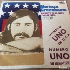 Discos de vinilo: NORMAN GREENBAUM. ESPIRITU EN EL CIELO / TARS OF INDIA. REPRISE RECORDS 1970. Lote 177025037