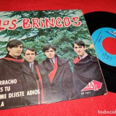 Discos de vinilo: LOS BRINCOS BORRACHO/ERES TU +2 EP AZ DISC EDICION FRANCESA FRANCE. Lote 177025410