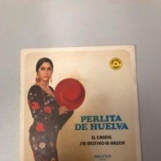 Discos de vinilo: PERLITA DE HUELVA. Lote 177054080